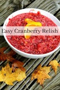 Homemade Cranberry Relish Recipe - Do you love cranberry recipes? If so, you'll love this homemade cranberry relish recipe. Make sure to add it to your favorite Thanksgiving recipes!