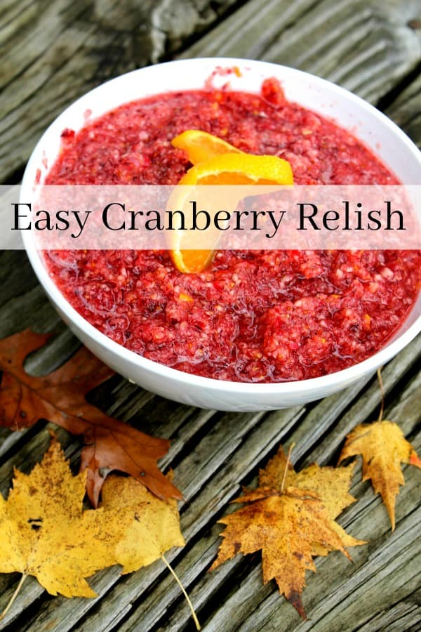 Put the can down and add this to your favorite cranberry recipes instead! This cranberry relish recipe is perfect for any holiday or fall dinner! Sweet but tart and super easy to make! It is sure to be one of your favorite cranberry recipes!