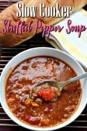 Slow Cooker Stuffed Pepper Soup Recipe