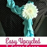 Easy Upcycled T-Shirt Scarf