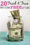 20 Tried & True Ways to Earn Free Gift Cards