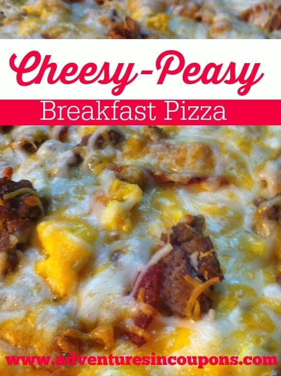 Get rid of the cereal bowl and bake up this Cheesy-Peasy Breakfast pizza! Its perfect anytime of the day!