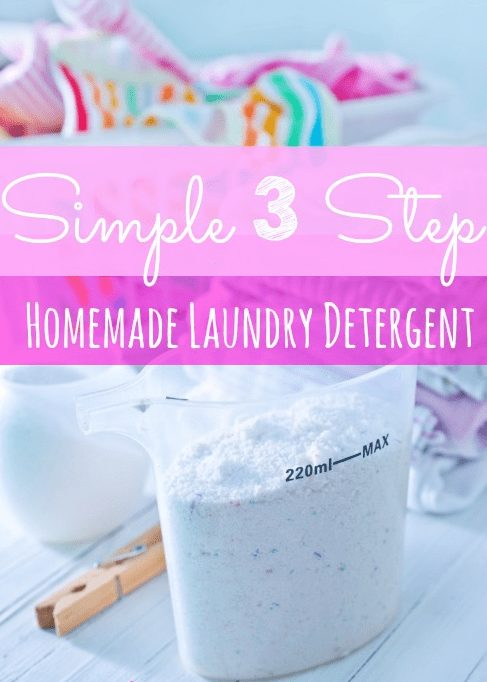 DIY Powdered Laundry Detergent - Who says homemade cleaners need to be complicated? This Homemade Powdered Laundry Detergent is so simple you'll wonder why you haven't made it before!