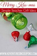 Merry Kissmas Simple Teacher Gift Idea