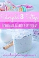 Simple 3 Step Homemade Laundry Detergent – Easy to Make & Works Better Than Store Bought!