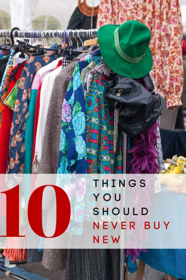 Need to replace something in your home? Put the new item back! These 10 things you should never buy new will save money and reduce waste at the same time!