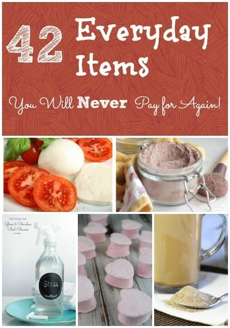 Looking to save money? How about getting rid of harsh chemicals? Either way, once you make these 42 everyday items at home, you'll NEVER pay for them again!