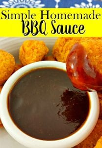 """Tired of bottled BBQ sauce that just doesn't """"WOW"""" you anymore? Give this simple homemade BBQ sauce recipe a try! Just 3 steps! Texan approved!"""