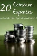 Are you wasting money without even realizing it? I'd bet you are! Check out these 20 common expenses you should stop spending money on and you'll soon find extra money in your budget!