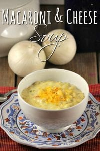 Delicious Macaroni and Cheese Soup Recipe - Need a quick and simple dinner recipe? This macaroni and cheese soup recipe is delicious, super simple and budget friendly too!
