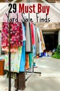 29 Must Buy Yard Sale Finds to Save {or Make!} Money
