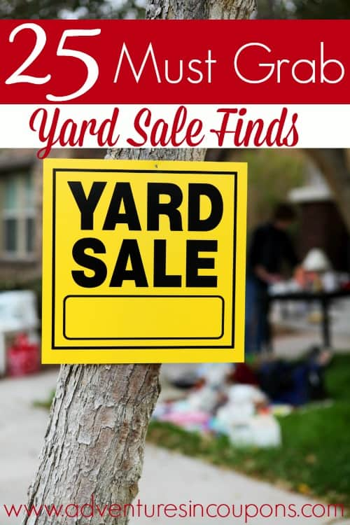Hitting the yard sales soon? Make sure you keep an eye out for these items! These 25 items are almost always worth picking up at yard sales!