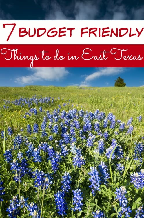 Visiting the East Texas area soon? Don't let fun and entertainment drain your wallet! These 7 budget friendly things to do in East Texas are fun, entertaining and best of all? Cheap!