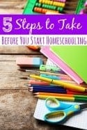 5 Steps to Take Before You Start Homeschooling