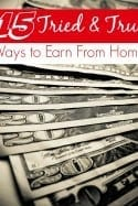 Looking for ways to earn free gift cards or to work from home? These 15 tried and true ways to earn from home are perfect for you! You'll be earning a paycheck in no time!