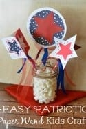 Easy Patriotic Paper Wand 4th of July Kids Craft