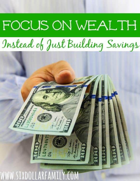 As we start our financial journey we're told over and over to save, save, save...what about wealth? Where does that come into play?
