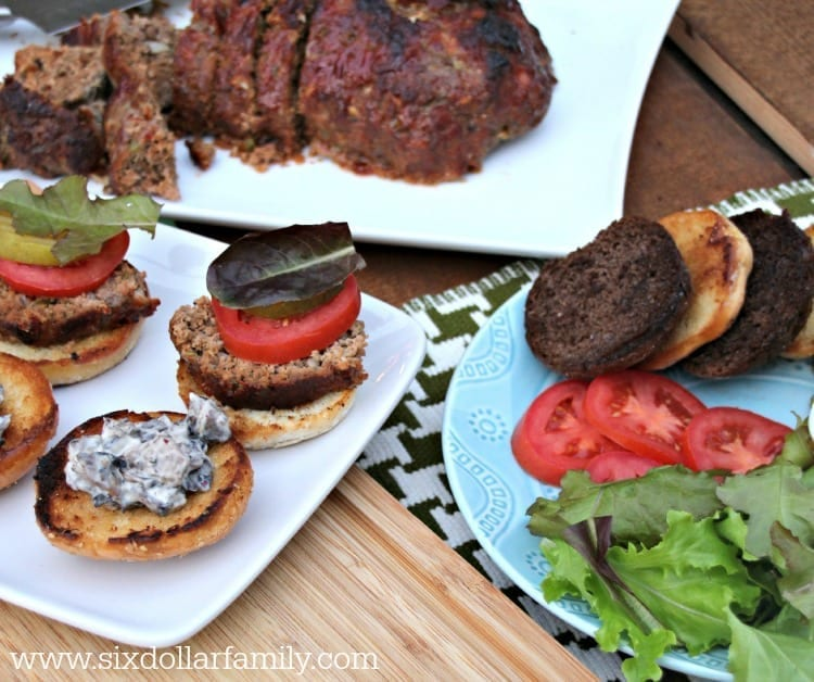 Looking for a quick and easy dinner idea? These Meatloaf Sliders with Portobello Mayo are perfect! They're sure to please even the pickiest eaters!