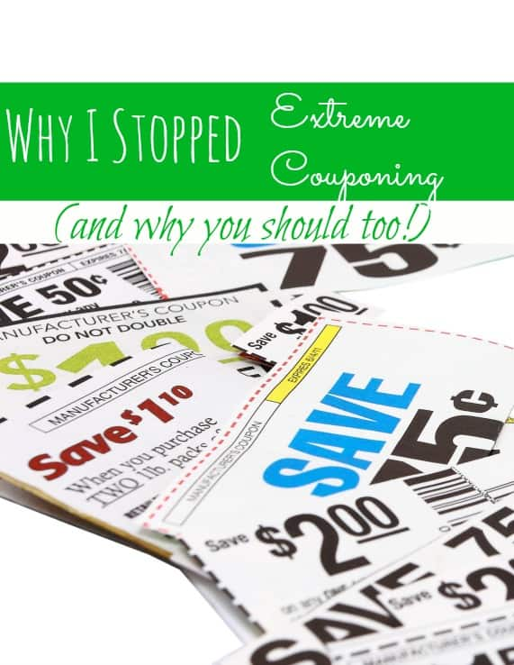 "Are you an ""extreme couponer?"" I once was, but extreme couponing is a game that I don't want to play any longer. In this post, I show you why I stopped Extreme Couponing and tell you why I think YOU should too!"