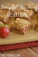 Simple Strawberry Dessert Bars