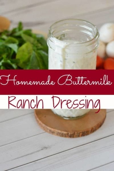 """Looking for a new homemade buttermilk ranch dressing recipe? This one is it! Creamy with just the right """"kick,"""" you're sure to ditch the bottled stuff in your home!"""