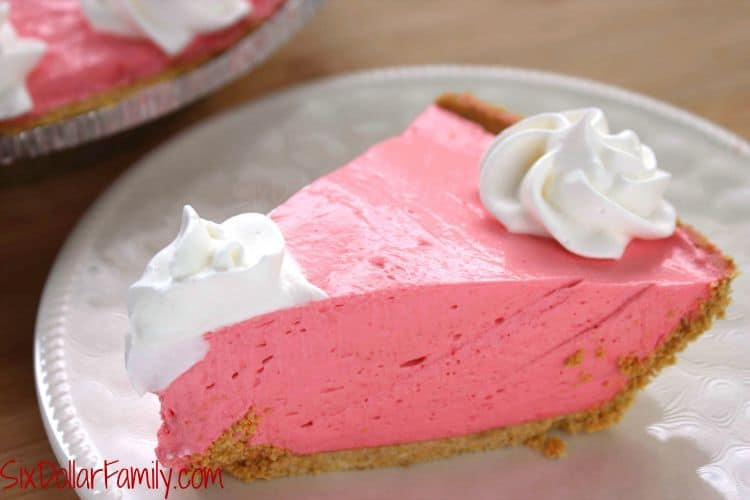 Pie Recipes- Don't let summer pass you by without tasting this Cherry Kool-aid Pie recipe! Smooth, creamy and the perfect summer treat for any warm day!