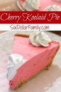 Cherry Kool-Aid Pie Recipe - Don't let summer pass you by without tasting this Cherry Kool-aid Pie recipe! Smooth, creamy and the perfect summer treat for any warm day!
