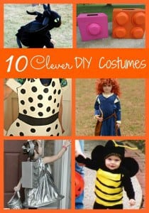 Making your own Halloween Costume doesn't have to be hard! These 10 Clever DIY Costumes are perfect for both tricks and treats!