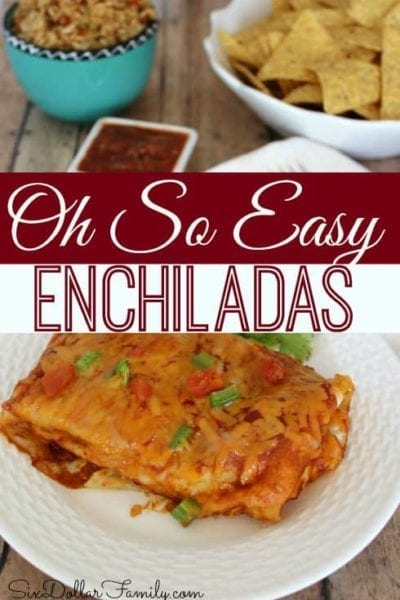 Looking for a quick, easy and tasty meal with a Tex-Mex kick? This Oh So Easy Enchilada Recipe is just what you're looking for!
