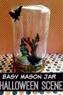 Easy Mason Jar Halloween Scene
