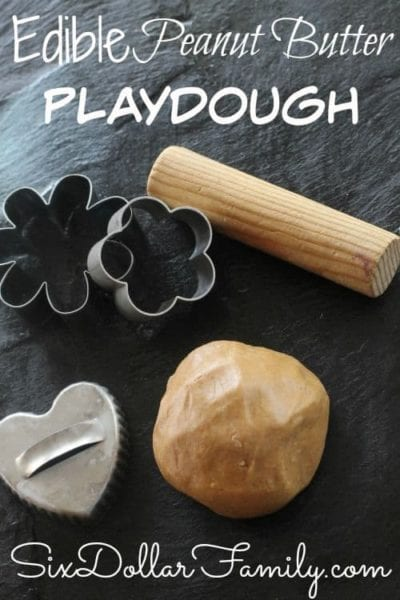 """Have kids that love play-doh but worried about them getting hurt or sick from it? This Edible Peanut Butter Playdough is perfect for you! No ingredients you can't pronounce and just as awesome as the """"real"""" thing!"""