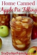 Canning season is in full swing and this home canned apple pie filling is perfect for your own shelves to to give as a gift!