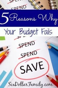 STILL having budget trouble that you can't figure out? These 5 reasons why your budget fails might help! They're 5 of the most common reasons for budget failure!