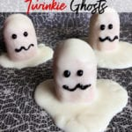 Your next Halloween party is sure to be a hit with this adorably scary Halloween Dessert idea! These white chocolate desserts are simple to make and are made with delicious Twinkies!