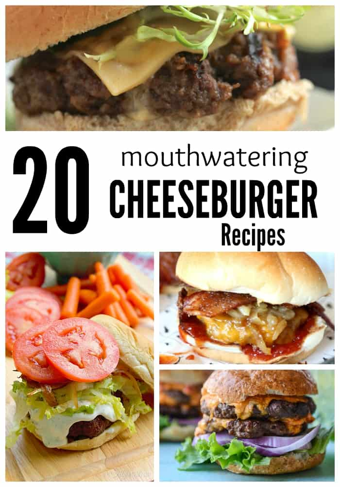 Hungry? These 20 Mouthwatering Cheeseburger Recipes will have you begging for more! They're SO good and super easy to make!