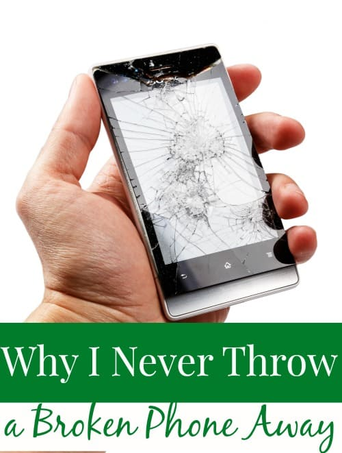 Have a broken phone or tablet lying around? Me too. Several in fact. I NEVER throw them away though! Instead? I make them work for me one last time (and you can too!)