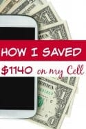 "Ever been tired of spending so much for your phone? I was! Spending over $1300 per year just wasn't high on my ""want to do"" list! Now? I've saved $1140 each year and I'm about to show you how!"