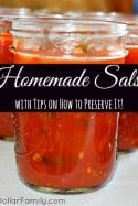 Homemade Salsa Recipes Plus Canning Tips!