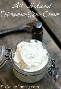Homemade Shave Cream with Shea Butter - Shaving creams can be so expensive and are filled with ton of chemicals that aren't great for your body! This Homemade Shave Cream is made with shea butter and coconut oil, whips up in less than 10 minutes and will leave you feeling silky and moisturized! It makes a great homemade gift idea too!