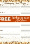 Free Printables – Thanksgiving Menu Planner