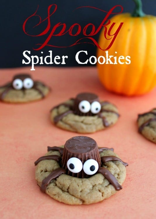 These spooky spider cookies are the perfect treat for your Halloween gathering! Super simple to make and they will delight creepy crawly fans everywhere!