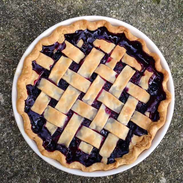 4 Ingredient Blueberry Pie Recipe