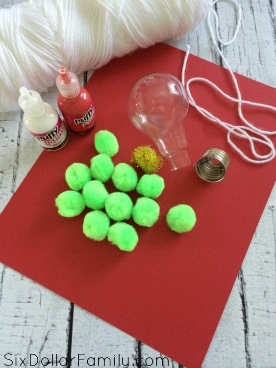 Christmas-Tree-Light-Bulb-Ornament-Supplies