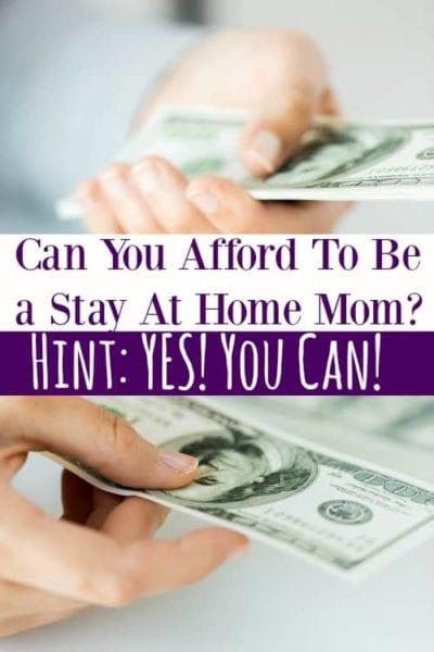 Think you can't afford to be a stay at home mom to your kids? Think again! You CAN afford to be a stay at home mom and I'm going to show you how!