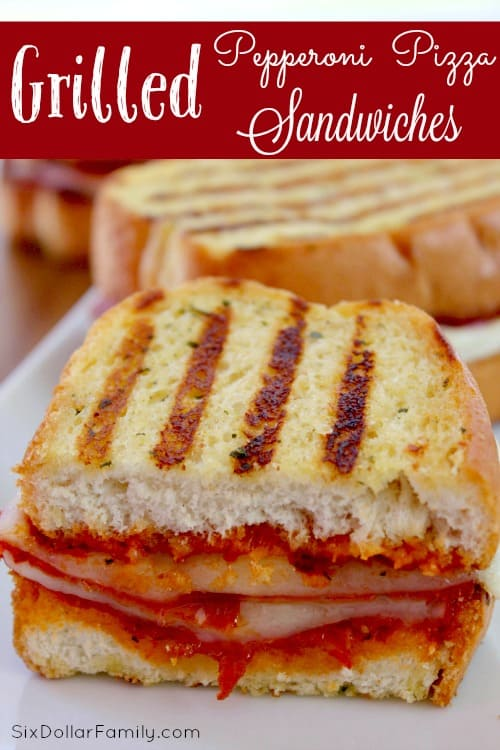 Quick, Easy and Oh So Good, this Grilled Pepperoni Sandwich recipe is PERFECT for when you need a quick dinner idea!