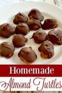 Homemade Almond Turtles