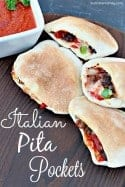 Homemade Italian Pita Pockets Recipe
