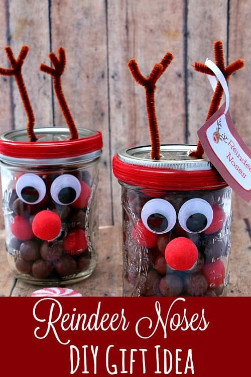 Adorable and Easy to make, this Reindeer Noses DIY Gift Idea is PERFECT for kids, teachers, friends and more!