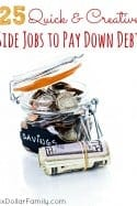 Quick & Creative Side Jobs to Pay Down Debt
