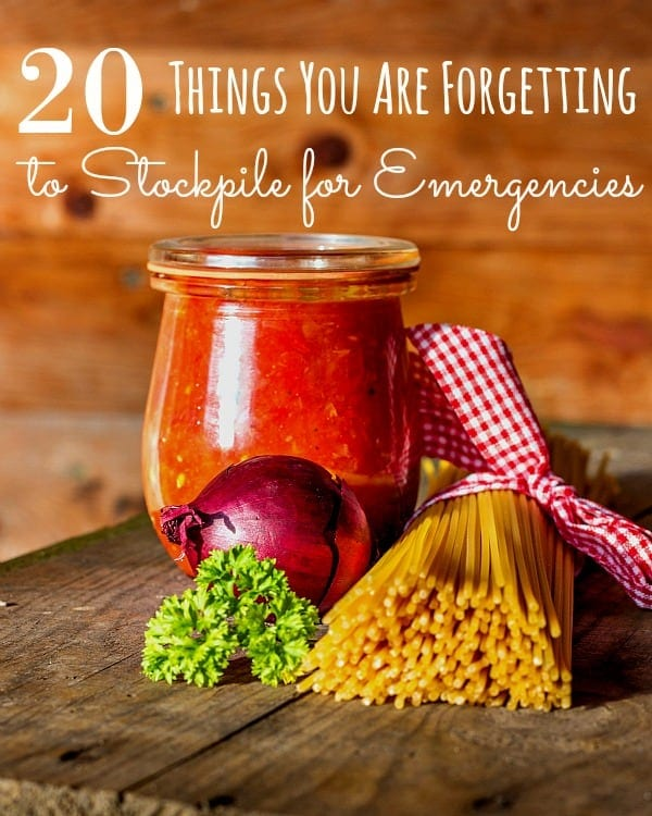 Do you stockpile emergency supplies? If so, you might want to take a look at these 20 things you are forgetting to stockpile for emergencies.